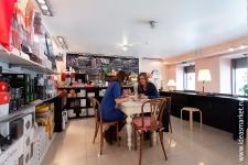 Грифельные покрытия в кафе воркплейса