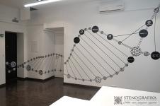 Маркерные покрытия в офисе Genome Ventures с росписью стен от Антона Крафтского