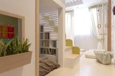 Проект детской комнаты с грифельным покрытием на стене