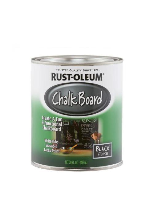 Краска с эффектом грифельной доски Rust-oleum (черная)