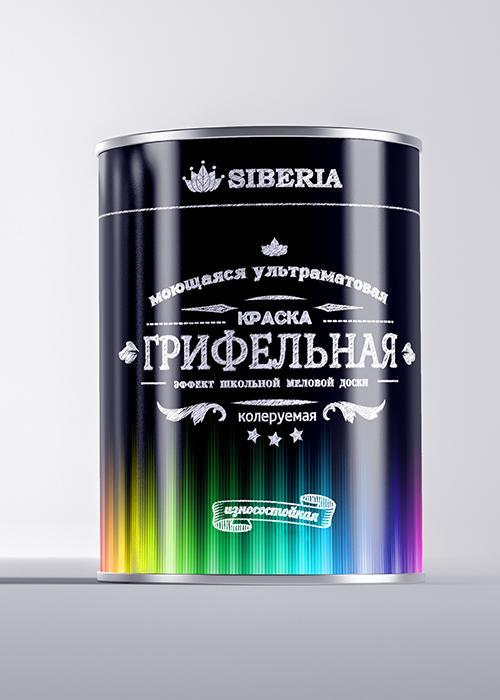 Грифельная краска с эффектом школьной доски Siberia колеруемая
